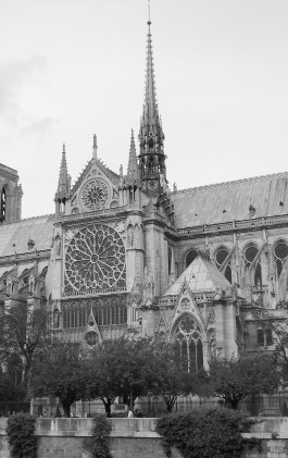 Black And White Building Paris Monument Church Cathedral Monochrome Place Of Worship Monastery History Gothic Architecture Notre Dame Monochrome Photography 777490